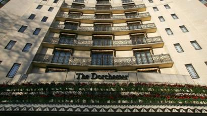 The facade of The Dorchester Hotel in London