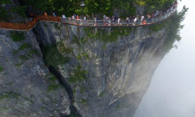 Coiling Dragon Cliff skywalk in China